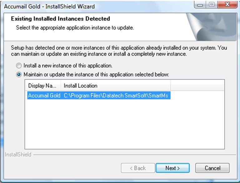 AccuMail Gold Installation