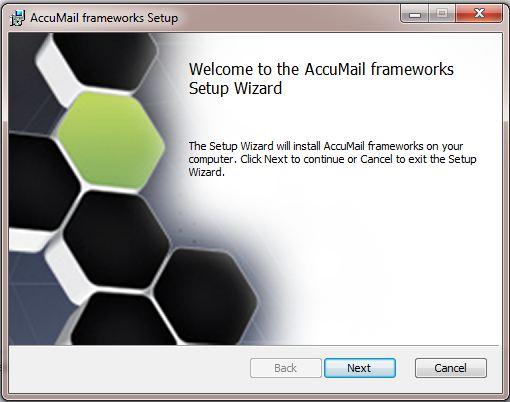 AccuMail frameworks Installation