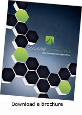 AccuMail frameworks address correction brochure