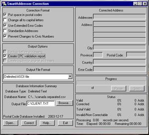 SmartAddresser Canada Address Correction