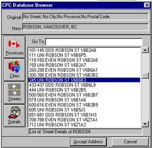 SmartLookup Canadian Address Lookup